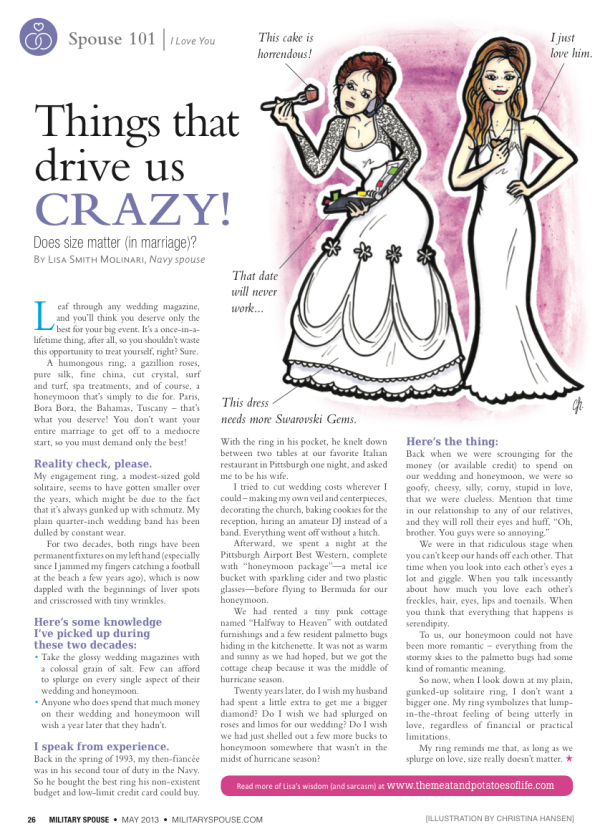 My column in the May issue of Military Spouse Magazine!
